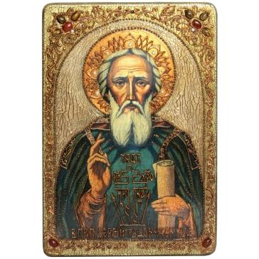 Икона «Преподобный Сергий Радонежский Чудотворец» в шкатулке