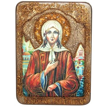 Икона «Святая Блаженная Ксения Петербургская», в шкатулке
