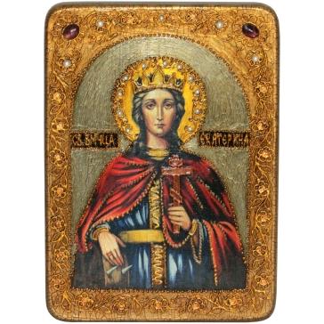 Икона «Святая великомученица Екатерина» в шкатулке