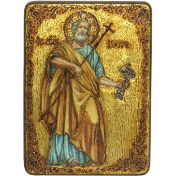 Икона Первоверховного апостола Петра в подарочной шкатулке.