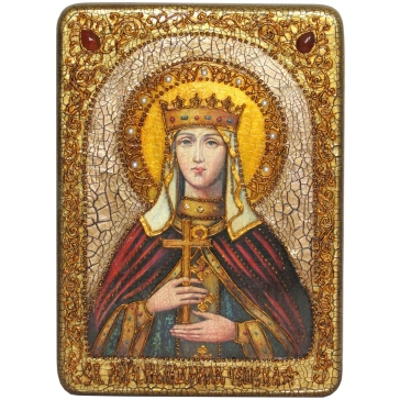 Икона «Святая Людмила Чешская» в шкатулке