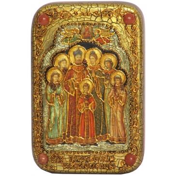 Икона «Святые царственные страстотерпцы», в шкатулке