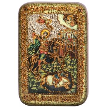 Икона «Чудо вмч. Димитрия Солунского о царе Калояне», подарочная
