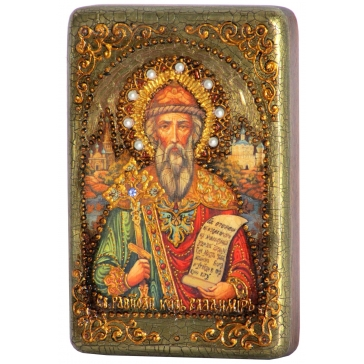 Икона «Святой равноапостольный князь Владимир» в шкатулке