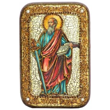 Икона Первоверховного апостола Павла в подарочной шкатулке.
