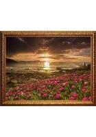 Картина «Пейзаж с цветами»
