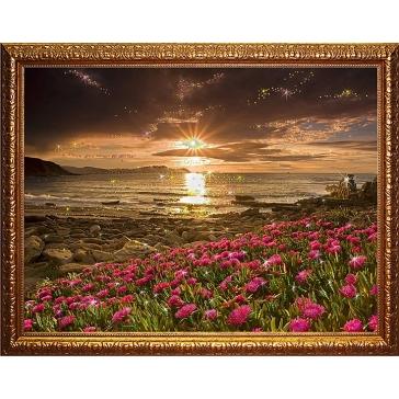 Картина Сваровски «Пейзаж с цветами»