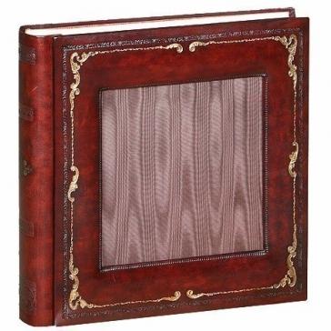 Кожаный фотоальбом с окошком для фотографии