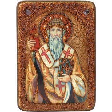 Икона «Святитель Спиридон Тримифунтский» в шкатулке