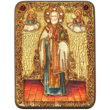 Подарочная икона «Святитель Николай, архиепископ Мир Ликийских, чудотворец»