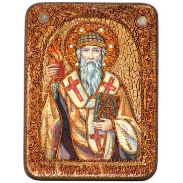 Икона «Святитель Спиридон Тримифунтский» подарочная