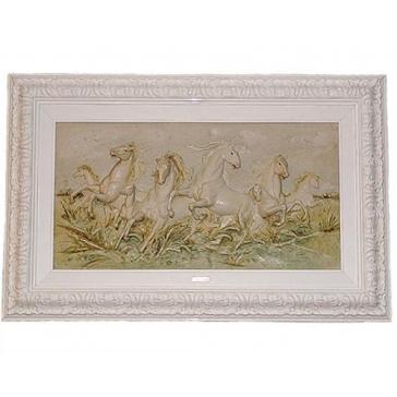 Подарочная картина из фарфора «Бегущие кони»