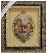 Панно с овальной тарелкой «Два ангелочка»