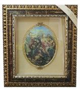 Панно с овальной тарелкой «Четыре нимфы и ангел»