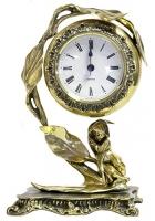 Бронзовые часы «Нежность»