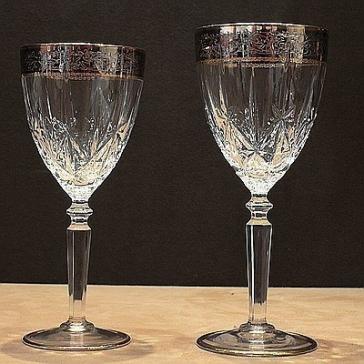 Набор хрустальных бокалов для вина, Италия