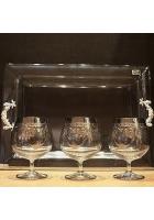 Набор для коньяка: поднос и 6 бокалов