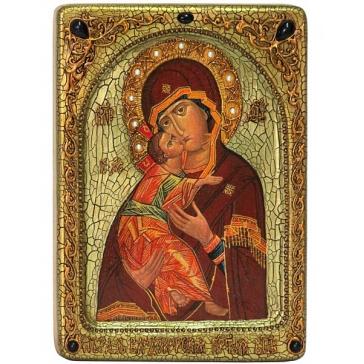 Живописная икона Владимирской Божией Матери