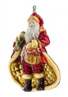 Елочная игрушка «Санта с конфетами»