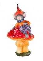 Елочная игрушка «Мышонок на мухоморе»