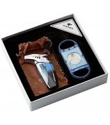 Подарочный набор: зажигалка для сигар и гильотина