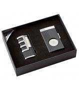 Подарочный набор: гильотина и зажигалка для сигар с встроенным пробойником