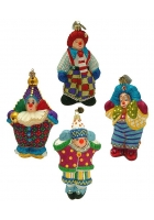 Набор елочных игрушек «Клоуны»