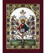 Икона «Спас Древо жизни», посеребренная