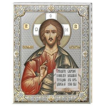 Подарочная посеребренная икона «Господь Вседержитель», Италия
