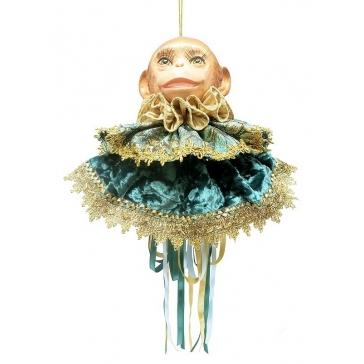 Кукла «Обезьяна» (украшение на бутылку)