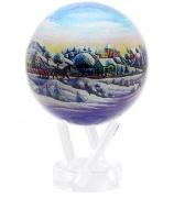 Глобус настольный самовращаюшийся «Зимний пейзаж»