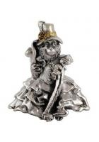 Серебряный сувенир-колокольчик