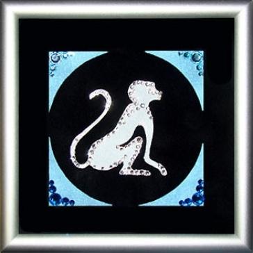 Мини-картина Сваровски «Символ года-Обезьяна»