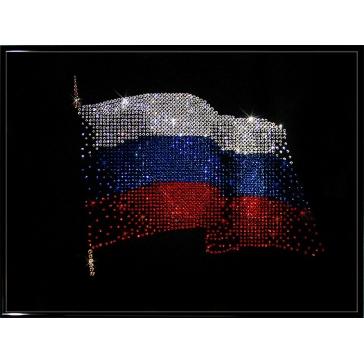 Картина Сваровски «Флаг РФ»