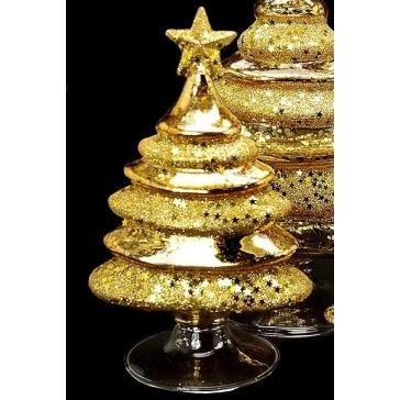 Стеклянная статуэтка «Золотая елочка», Италия