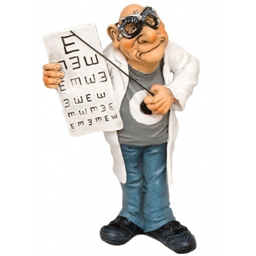 Статуэтка «Офтальмолог» из коллекции юмористических фигурок Warrena Stratforda