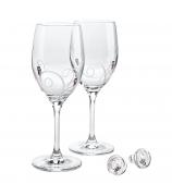Набор для вина «Очарование»: 2 бокала и 2 пробки.