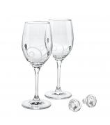 Набор для вина «Вдохновение»: 2 бокала и 2 пробки.