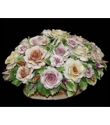 Фарфоровая композиция «Корзина с розами»