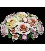 Фарфоровая композиция «Розы и фиалки»