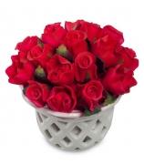 Цветочная композиция «Букет алых роз»