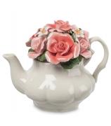 Фарфоровая композиция «Чайник с цветами»