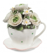 Музыкальная фигурка «Чашечка с цветами»