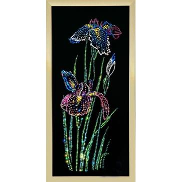 Картина Swarovski «Ирисы», 30х70 см