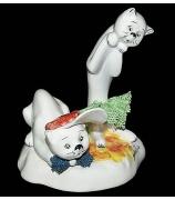 Фарфоровая статуэтка «Котик и Кошечка»