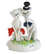 Фарфоровая статуэтка «Пара кошечек»
