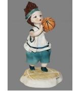 Фарфоровая статуэтка «Баскетболист»