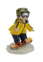 Фарфоровая статуэтка «Сноубордист»