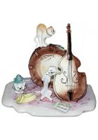 Фарфоровая статуэтка «Музыкальное трио»