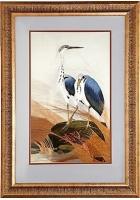 Шелковая картина «Два ибиса»